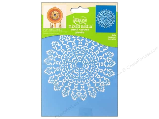 DecoArt Americana Mixed Media Stencil 6 x 8 in. Doilies