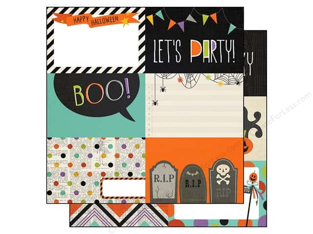 Simple Stories Paper 12 x 12 in. Frankie & Friends Collection 4 x 6 Horizontal Elements (25 sheets)