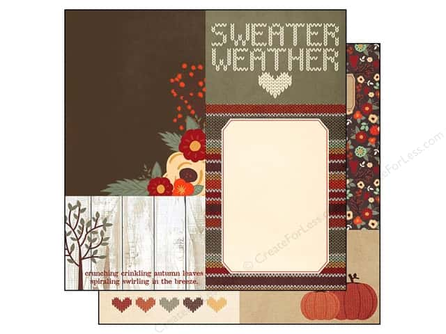 Simple Stories 12 x 12 in. Paper Sweater Weather Elements 4 x 6 & 6 x 8 in. (25 sheets)