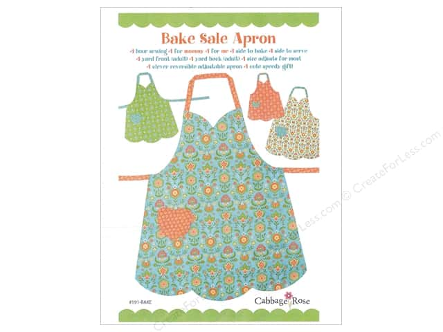 Cabbage Rose Bake Sale Apron Pattern