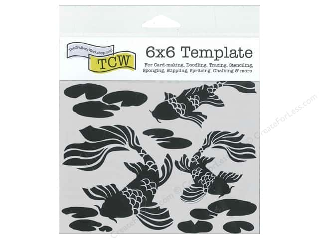 The Crafter's Workshop Template 6 x 6 in. Koi Pond