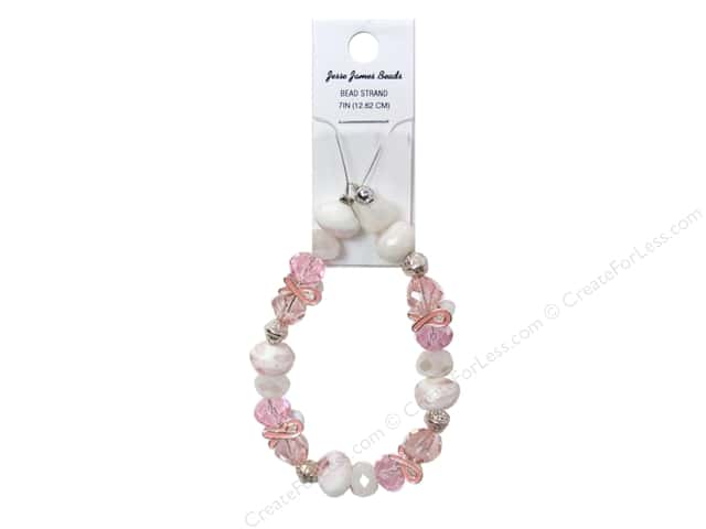 Jesse James Bead Breast Cancer Awareness Strand Hope Bracelet #1