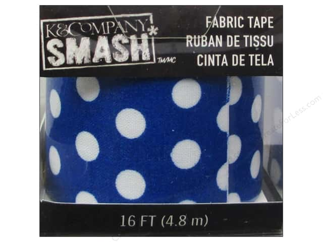 K&Company Smash Fabric Tape Dot Blue and White