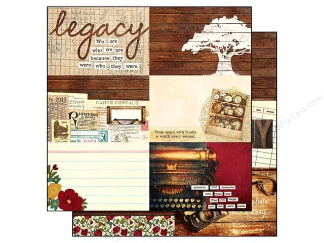 Simple Stories Paper 12 x 12 in. Legacy Journaling Card Elements Horizontal 4x6 (25 sheets)