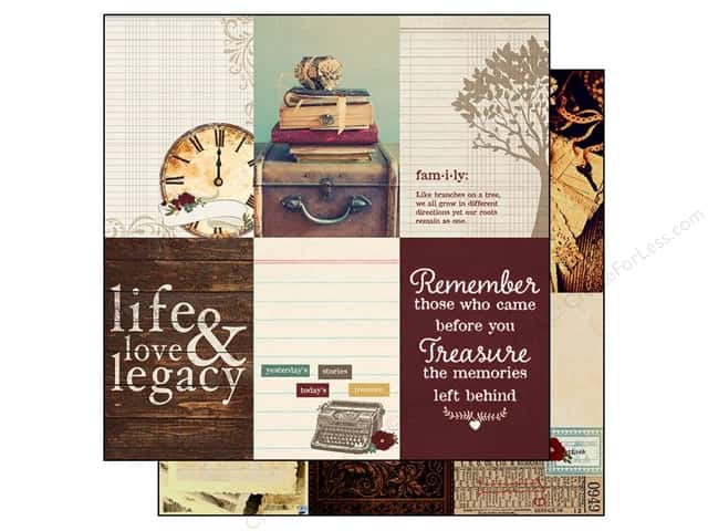 Simple Stories Paper 12 x 12 in. Legacy Journaling Card Elements Vertical 4x6 (25 sheets)