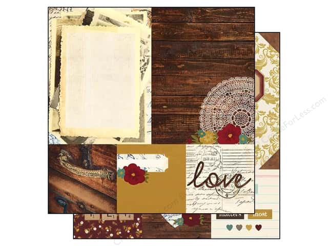 Simple Stories 12 x 12 in. Paper Legacy Quote 4x4 & Photo Mat Elements 6x8 (25 sheets)