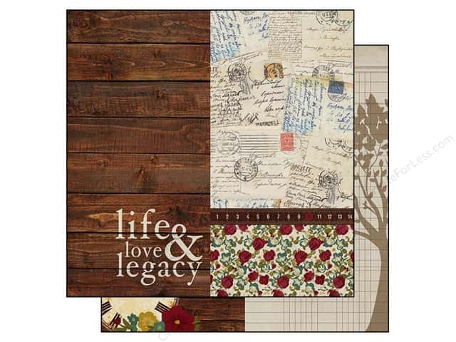 Simple Stories Paper 12 x 12 in. Legacy Page Elements 6x12 (25 sheets)