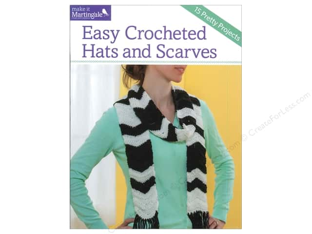 That Patchwork Place Easy Crocheted Hats & Scarves Book by Denise Black and Sandy Scoville