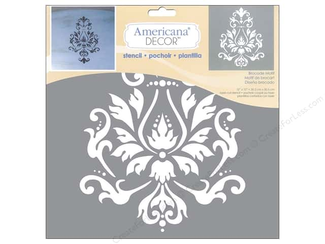 DecoArt Americana Decor Stencil 12 x 12 in. Brocade Motif