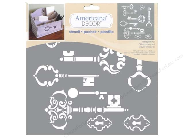 DecoArt Americana Decor Stencil 12 x 12 in. Vintage Keys