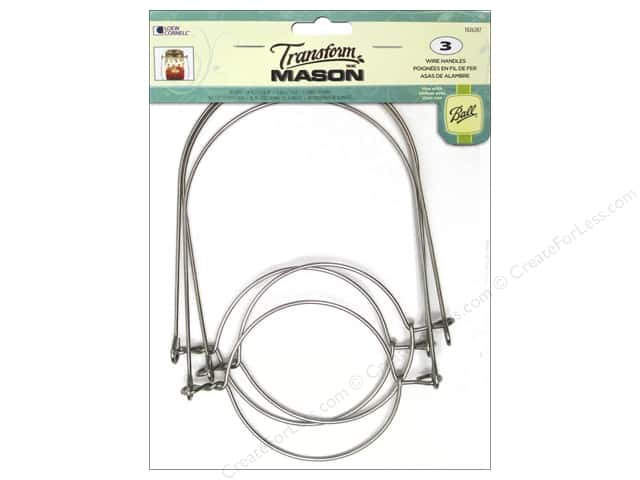Loew Cornell Transform Mason Regular Mouth Wire Handles Silver 3 pc.