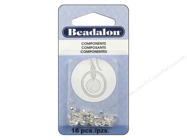 Beadalon Double-Cup Bead Tips .70 mm Silver Plated 16 pc.