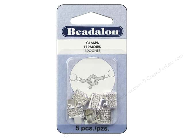 Beadalon Filigree Clasps 13 mm 2 Strand Silver Plated 5 pc.