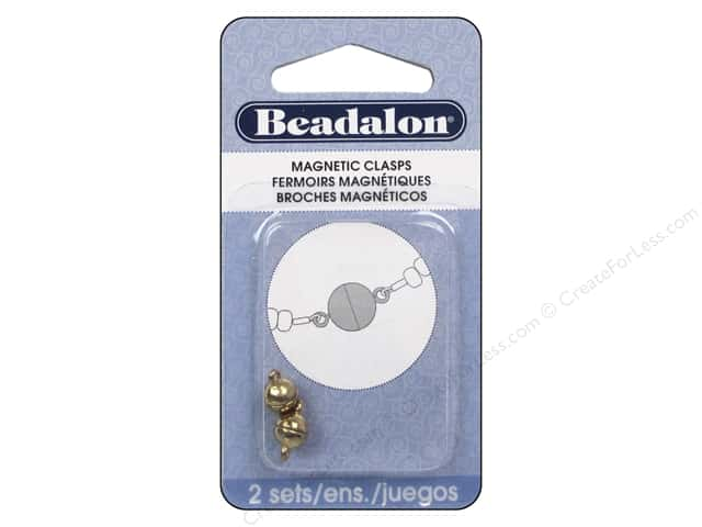 Beadalon Magnetic Clasp Round 6 mm Gold Color 2 pc.