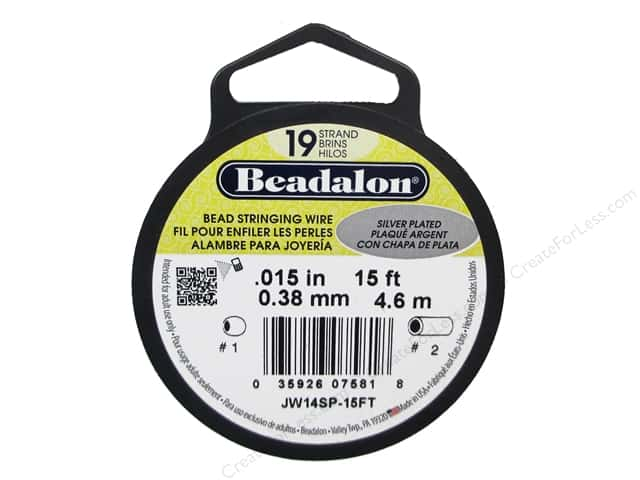 Beadalon Bead Wire 19 Strand .015 in. Silver Plated 15 ft.