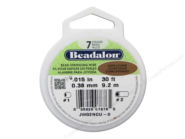 Beadalon Bead Wire 7 Strand .015 in. Satin Copper 30 ft.