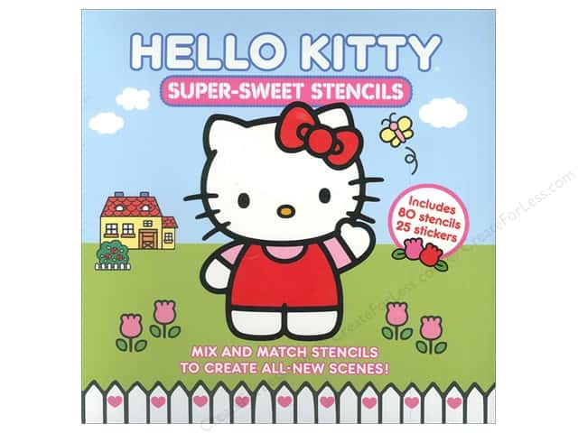Abrams Hello Kitty Super-Sweet Stencils Book
