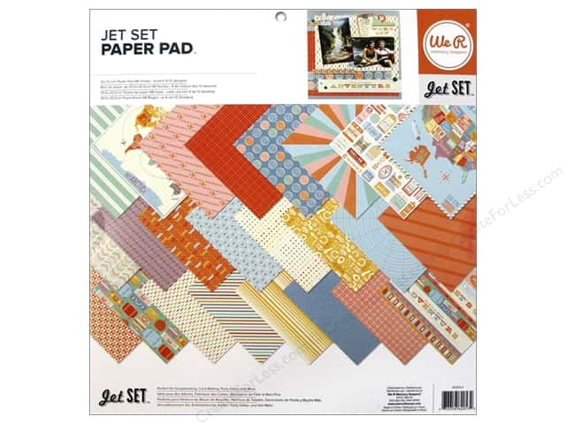 "We R Memory Paper Pad 12""x 12"" Jet Set"