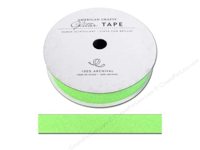 American Crafts Glitter Tape 5/8 in. Cricket