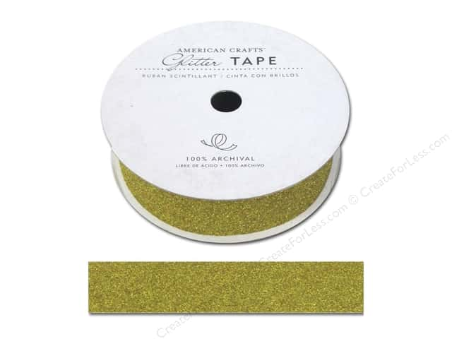 American Crafts Glitter Tape 7/8 in. Sunflower
