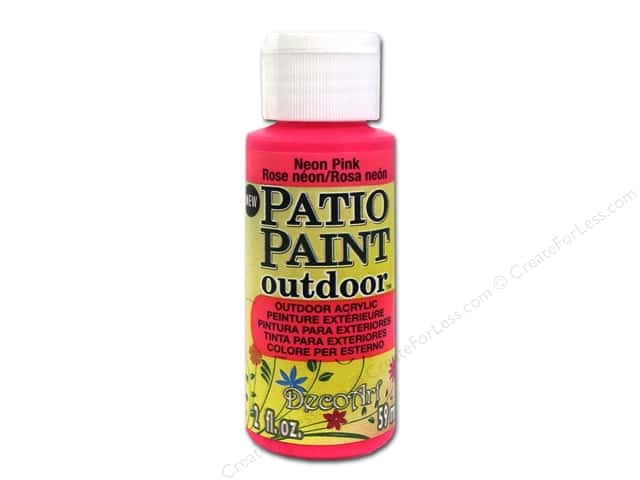 DecoArt Patio Paint Outdoor Acrylic Paint 2 oz. #85 Neon Pink