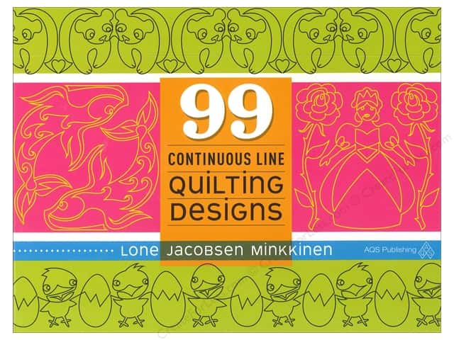 99 Continuous Line Quilting Designs Book by Lone Jacobsen Minkkinen