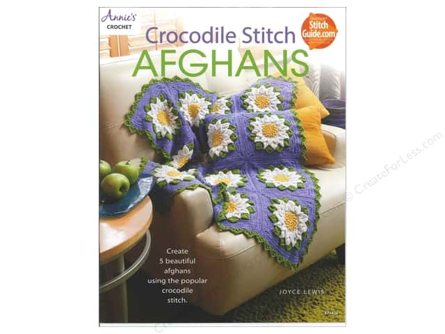 Annie's Crocodile Stitch Afghans Book by Joyce Lewis
