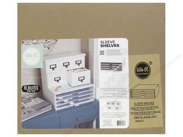 We R Memory Keepers Albums Made Easy Card Cabinet Sleeve Shelves