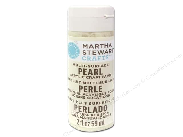 Martha Stewart Craft Paint by Plaid Pearl Gold Mother of Pearl 2 oz.