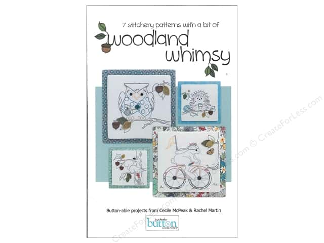 Just Another Button Co Woodland Whimsy Stitchery Book