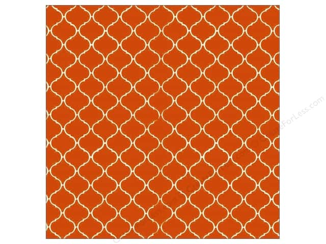 Canvas Corp 12 x 12 in. Paper Orange & Ivory Tile Reverse (15 sheets)