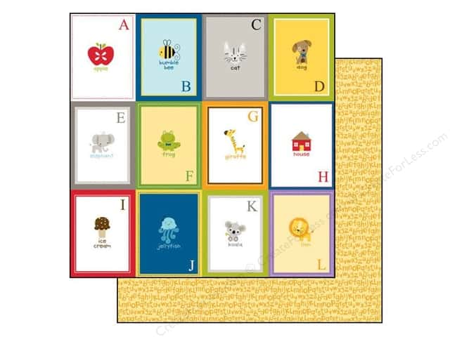 Bella Blvd 12 x 12 in. Paper Tiny Tots Flashcards A-L (25 pieces)