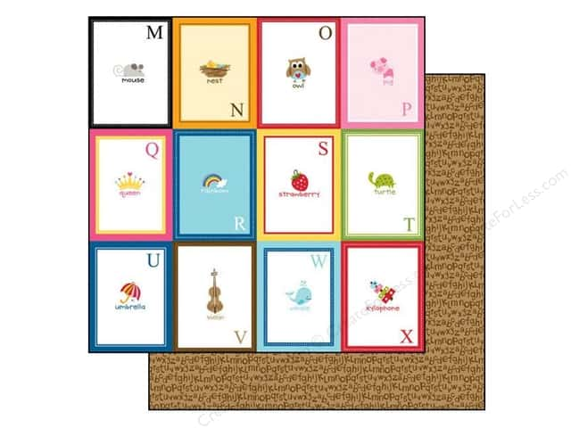 Bella Blvd 12 x 12 in. Paper Tiny Tots Flashcards M-X (25 pieces)