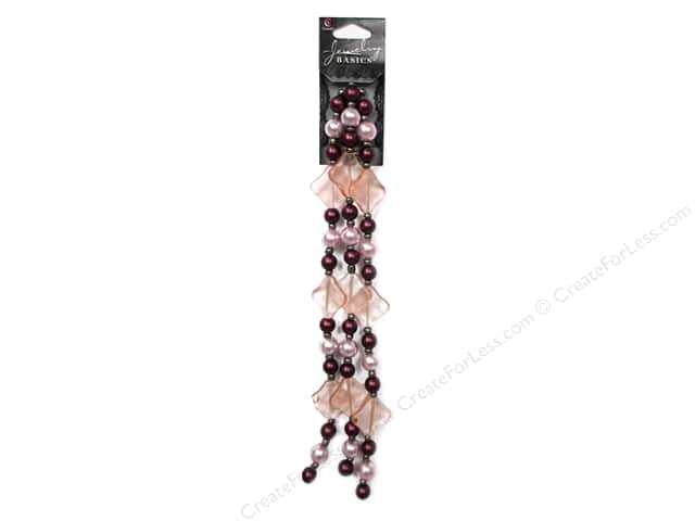 Cousin Basics Glass and Acrylic Beads 3/4 in. Pearl Purple Pink