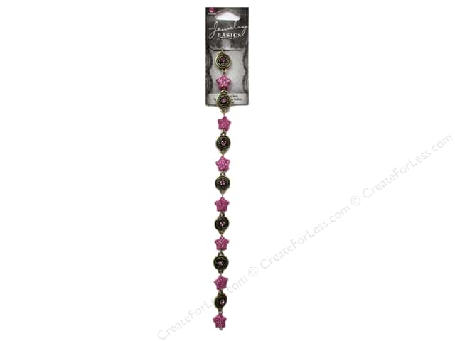 Cousin Basics Glass and Metal Beads 7/16 in. Star Gold Purple 15 pc.