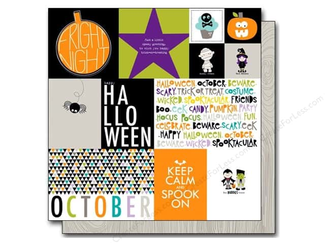 Bella Blvd 12 x 12 in. Paper Halloween Magic Daily Details (25 pieces)