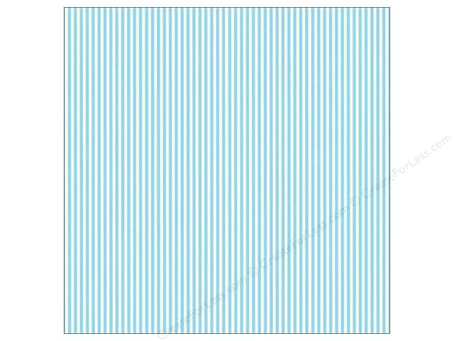 Canvas Corp 12 x 12 in. Paper Blue & Ivory Ribbon Stripe (15 sheets)