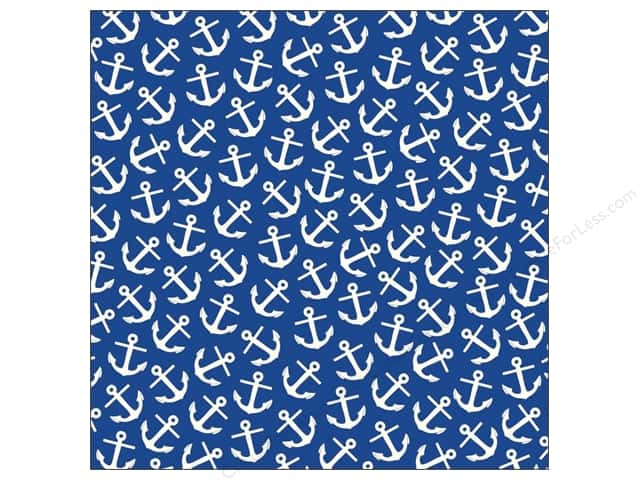 Canvas Corp 12 x 12 in. Paper Navy & Ivory Anchor (15 sheets)