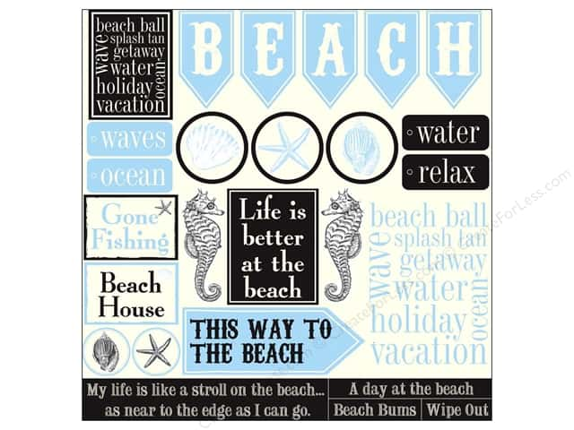 Canvas Corp 12 x 12 in. Paper Ivory Beach Sampler (15 sheets)