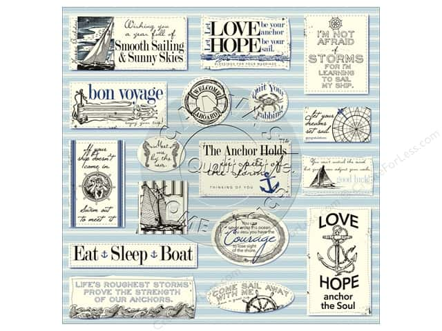 Canvas Corp 12 x 12 in. Paper Nautical Sayings On Ivory (15 sheets)