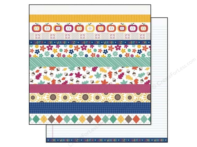 Lawn Fawn 12 x 12 in. Paper Sweater Weather Gusty 12 pc. (12 sheets)