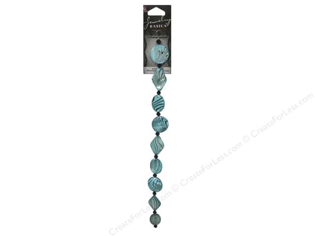 Cousin Basics Shell Beads 3/4 in. Mother Of Pearl Swirl Teal 19 pc.