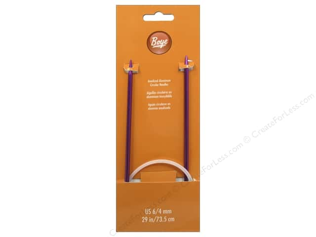 Boye Circular Knitting Needles Aluminum 29 in. Size 6 (4 mm)