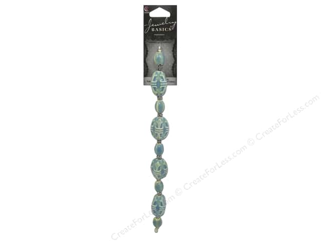 Cousin Basics Metal and Ceramic Beads 7/8 in. mm Turquoise 17 pc.