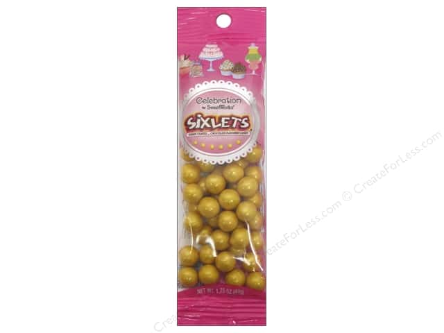 SweetWorks Celebration Sixlets 1.75 oz. Shimmer Gold