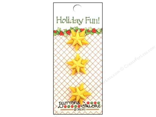 Buttons Galore Holiday Fun Buttons 3 pc. Christmas Star