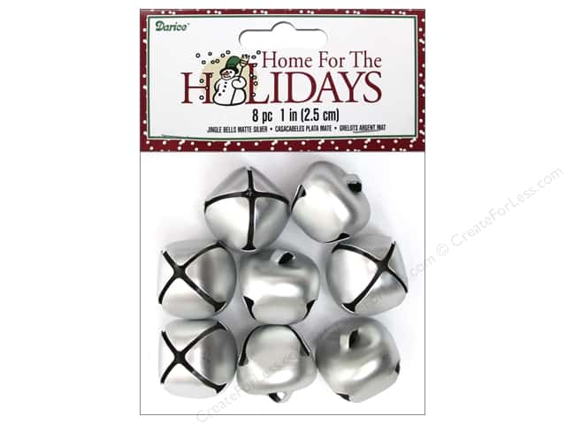 Darice Jingle Bells 1 in. Matte Silver 8 pc.