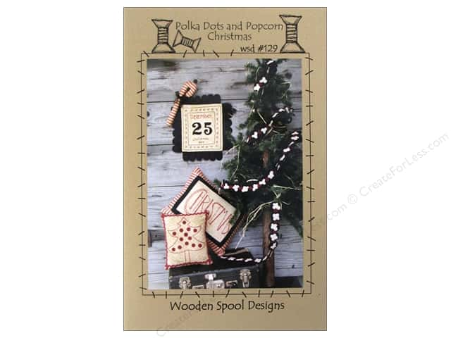 Wooden Spool Designs Polka Dots and Popcorn Pattern