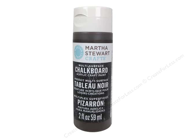 Martha Stewart Craft Paint by Plaid Chalkboard Vanilla Bean 2 oz.