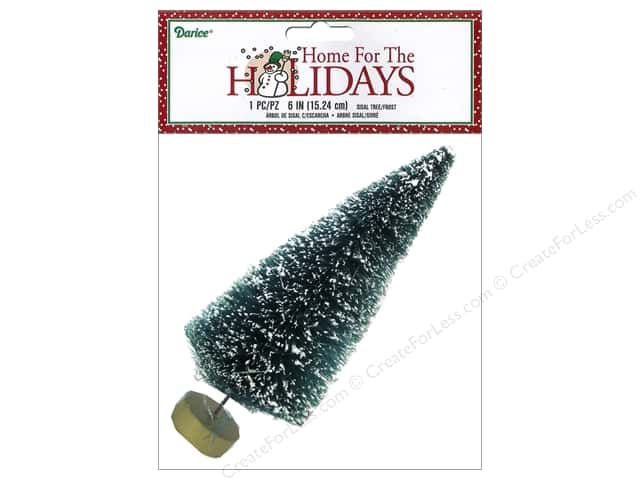 Darice Sisal Tree 6 in. Green with Frost 1 pc.